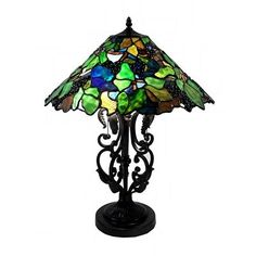 Warehouse of Tiffany NSC18113-054 2 Light Style Jady Table Lamp