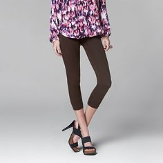 Simply Vera Vera Wang Low-Rise Cotton Capri Leggings -- Check this awesome product by going to the link at the image.