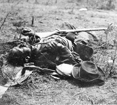 Confederate dead at the Battle of the Wilderness, 1864    http://www.nps.gov/frsp/photosmultimedia/harris.htm