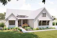 1 story modern farmhouse plan cherry creek small farmhouse plans, m