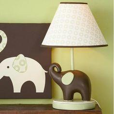 Carter's Green Elephant- Lamp Base And Shade - Best Price Contemporary Nursery Decor, Contemporary Table Lamps, Elephant Lamp, Elephant Table, Childrens Lamps, Lotus Lamp, Jungle Room, Baby Nursery Decor, Nursery Ideas