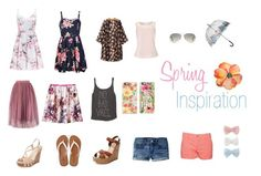 """""""Spring Inspiration Board"""" by kaarlaa88 on Polyvore featuring Ally Fashion, Forever New, Splendid, American Eagle Outfitters, Schutz, Seychelles, Billabong, Jacques Vert, Decree and Ray-Ban"""