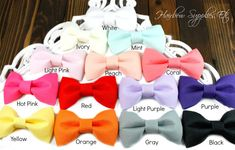 Fabric Bows 2.5 inch - Fabric Bow, Fabric Bow Tie, Hair Bows, Tuxedo Bow, Bows for Girls, Hair Bows