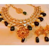 Designer Kundan Multilayer Gold Plated Necklace