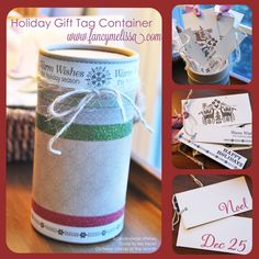 You can always count on Melissa for something really FANCY! Love her work. Holiday Gift Tag Container CTMH Stamp of the month Scandinavian WIshes S1310A