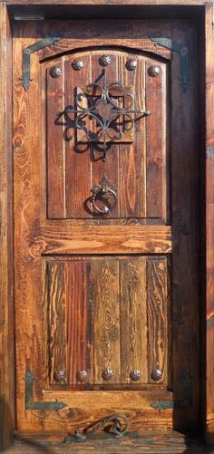 Rustic-reclaimed-lumber-kiln-dried-wood-stained-36-X-80-door-YOU-Choose-Style by PetrasRusticDoors