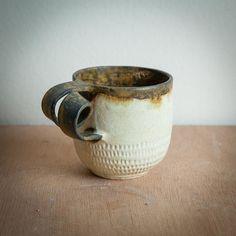 wheel thrown or hand pinched stoneware ceramic mugs Stoneware Mugs, Ceramic Mugs, Mug Shots, Coffee Mugs, Cups, Pottery, Ceramics, Tableware, Handmade