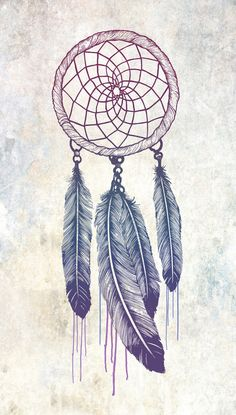 one of my favorite images of a hand drawn dreamcatcher... love these colors