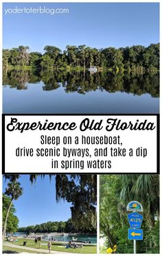 Visit Old Florida on the St. Johns River and River of Lakes Corridor near DeLand, Florida. Book a Florida houseboat rental and enjoy scenic drives.