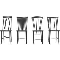 Family Chairs nro 1+2 tuoli, musta Design House Stockholm