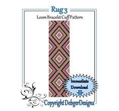 Rug+3++Loom+Bracelet+Cuff+Pattern+by+LoomTomb+on+Etsy,+$4.50