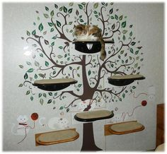 Painted Black Cat Shelves. $90.00, via Etsy.