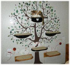 Painted Black Cat Shelves. $90.00, via Etsy.
