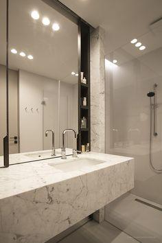 Marmur w nowoczesnej łazience - Architektura, wnętrza, technologia, design - HomeSquare