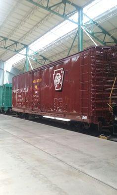 PRR Boxcar Strasburg Railroad, Vintage Trains, Railroad Photography, Pennsylvania Railroad, Boxcar, Train Engines, Rolling Stock, Train Tracks, Transportation