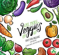 Vegetables are rich in many important nutrients, including vitamins, minerals, fiber and antioxidants. Eat a variety of veggies to benefit from a range of nutrients. Seeds Online, Organic Seeds, Vector Free, Vegan Recipes, Veggies, Watercolor, Eat, Benefit, Minerals