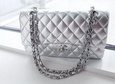 silver chanel bag by ilo.life