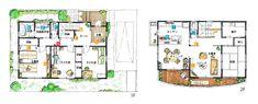 2階リビングで変化を楽しめる住まい   間取りプランニング   すむすむ   Panasonic Ldk, Floor Plans, Floor Plan Drawing, House Floor Plans