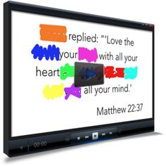 Memory Verse Video for Kids http://www.childrens-ministry-deals.com/products/matthew-22-37-memory-verse-video