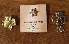 Lot of 3 Girl Scout pins Star Trefoil Vintage  | eBay