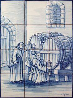 Panel, Fábrica Sant'Anna, Lisbon, Portugal - Love this! Portuguese Culture, Portuguese Tiles, Visit Portugal, Spain And Portugal, Tile Art, Mosaic Tiles, Tile Panels, Poster Pictures, Iron Work