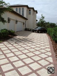 backyard garden paths lead our eye by means of a backyard, and add appeal and focus as nicely. Every backyard needs a path Front Driveway Ideas, Brick Driveway, Driveway Design, Path Design, Garden Design, Car Porch Design, Arlington House, Porch Tile, Garden Tiles
