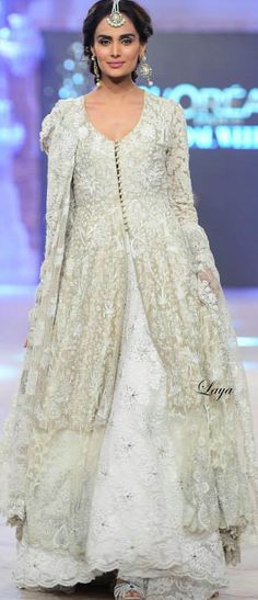 Nida Azwer : PFDC L'Oréal Paris Bridal Week 2014 ✿Laya✿