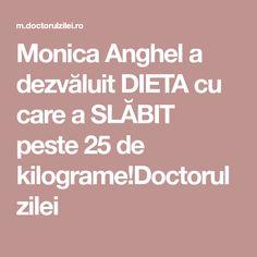 Monica Anghel a dezvăluit DIETA cu care a SLĂBIT peste 25 de kilograme!Doctorul zilei