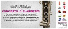 Tras su participación en el Festival Internacional de Musique Universitaire de Belfort (Francia), con más de 80.000 asistentes, el Cuarteto de clarinetes Ébène, del Conservatorio Profesional de Música de A Coruña, estará en Marineda City para deleitarnos con sus interpretaciones. Sábado, 25 de mayo, a las 19h en la Plaza Elíptica.
