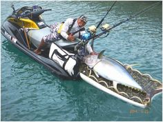 Jetski fishing champ #reellife #gearthatfitsyourlifestyle www.reellifegear.com