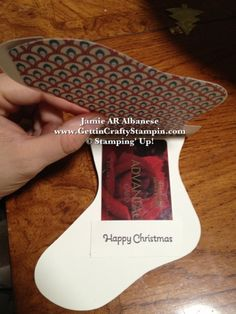 Gift Card Holder, Card, Ornament and easy! Stampin' Up! dies and papers... this was fun to make!