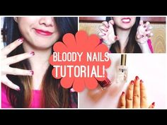 BLOODY NAILS (Nail Tutorial) | Livia McQueen - YouTube