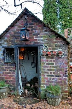 old brick garden shed