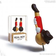 real boy creative packaging advertisement pushpin