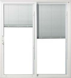 Jeld Wen® White Vinyl 6 Ft. Sld. Patio Door, Blinds In Glass