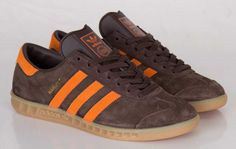 #adidas Originals Hamburg Mustang Brown #sneakers