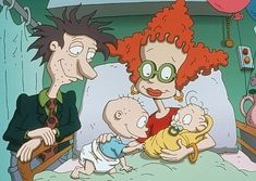 Tara Strong, Melanie Chartoff, Elizabeth Daily, and Jack Riley in The Rugrats Movie Nickelodeon Cartoons, Nickelodeon Game Shows, Funny Cartoons, The Rugrats Movie, Rugrats All Grown Up, 90s Childhood, Childhood Memories, 90s Kids Movies, Caricatures