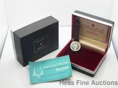 Genuine Bulova Accutron 214 Spaceview Stainless Steel Mens Watch Box Papers #Bulova #Sport