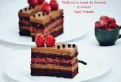 Chocolate cake and raspberries How To Make Chocolate, Chocolate Cake, Raspberry Chocolate, Cake Receipe, Bacon, Cheesecake, Food Porn, Food And Drink, Ice Cream