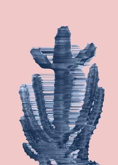 Supersonic Serene Cactus Art Print, rose quartz serenity wall art, cactus art print, cactus wall art, cacti trend, rose quartz serenity decor