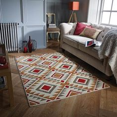 17 Stories Teppich Spaldings in Rot/Beige Room Inspiration, Oriental Weavers, Rugs, Living Room Inspiration, Home, Colorful Rugs, Multicoloured Rug, Contemporary House, Machine Made Rugs