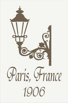 Paris signe un pochoir-PARIS FRANCE w/rue lampe - 6 tailles disponibles-DIY Français signes ou oreillers Français