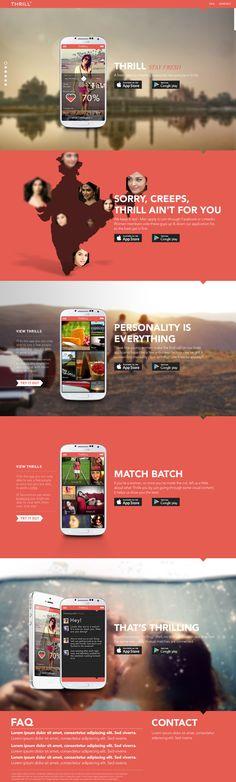Unique Web Design, Thrill App #webdesign #design (http://www.pinterest.com/aldenchong/)