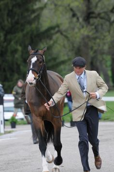 Boyd Martin with Aces won the best dressed male award at Rolex 2013.  He looks so dapper!