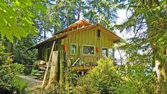 708 Sq. Ft. Cabin For Sale in Tahuya, WA Tiny Log Cabins, Cabins For Sale, Tiny Houses For Sale, Tiny House On Wheels, A Frame Cabin, A Frame House, Cabin Homes, Log Homes, Tiny House Talk