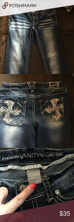 ‼️SALE‼️ ‼️PRICE REDUCED‼️Premium Vanity Jeans These are  Premium Vanity Jeans. Wore once. Love the jeans but they are a little to snug on me. No rips, stains, tears. Perfect condition. Vanity Pants Boot Cut & Flare