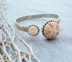 Sea Urchin Collection - Elegant Sea Urchin and Pearl Cuff