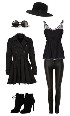 """""""Black"""" by igiurectioner ❤ liked on Polyvore featuring Tom Ford, Burberry, Steve Madden, The Row and Witchery"""