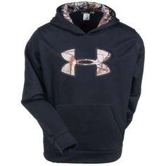 Under Armour Sweatshirts  Youth 1248453 001 Black Fleece Hooded Sweatshirt  - Brands 0f7c76de5