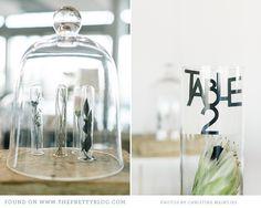 Glass dome, black & white table decor | Photo: Christine Meintjes, Styling: AnnaH